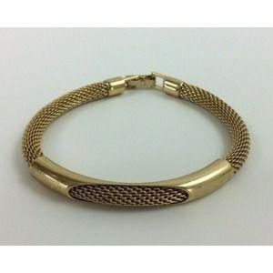 Vintage Avon Women Rope Chain Bracelet Gold Tone